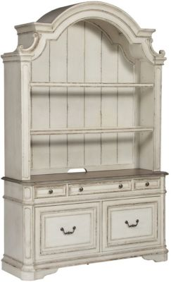 Liberty Magnolia Manor Credenza & Hutch