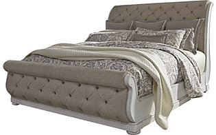 Liberty Abbey Park King Upholstered Sleigh Bed