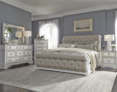 Liberty Abbey Park 4-Piece Queen Upholstered Bedroom Set