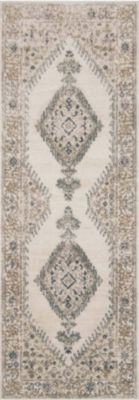 Loloi Teagan Oatmeal and Ivory 2' X 8' Rug