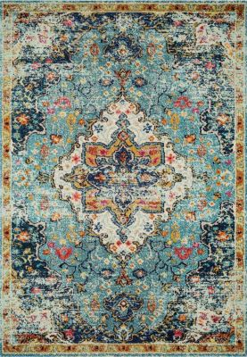Loloi Nadia Blue and Midnight 3' X 5' Rug