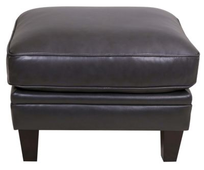 Leather Italia Andover 100% Leather Ottoman