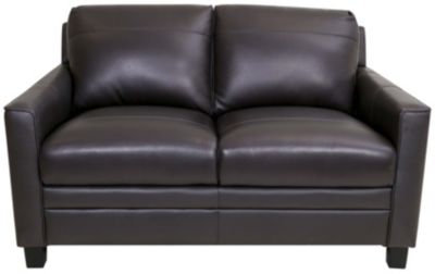 Leather Italia Fletcher 100% Leather Loveseat
