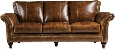 Leather Italia Butler 100% Leather Sofa