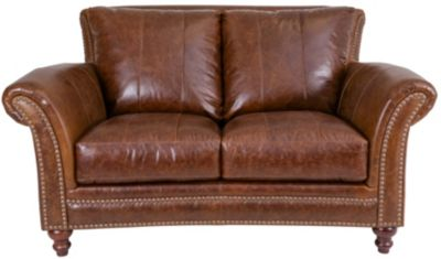 Leather Italia Butler 100% Leather Loveseat