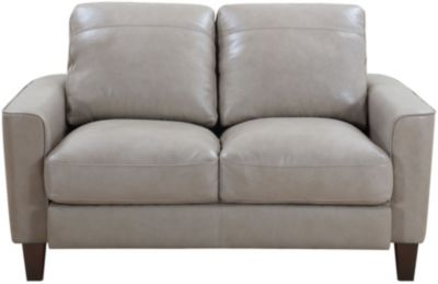 Leather Italia Georgetowne Sand 100% Leather Loveseat