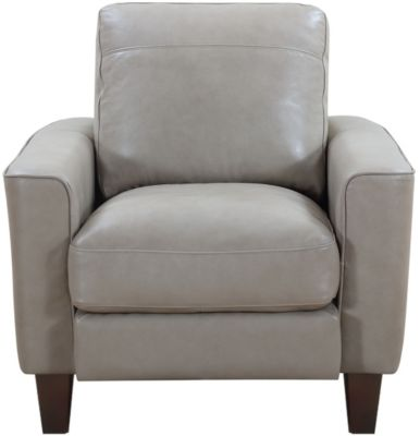 Leather Italia Georgetowne Sand 100% Leather Chair