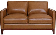Leather Italia Newport 100% Leather Loveseat
