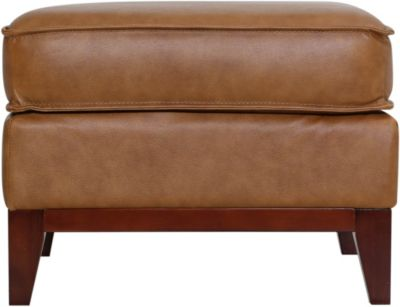 Leather Italia Newport 100% Leather Ottoman