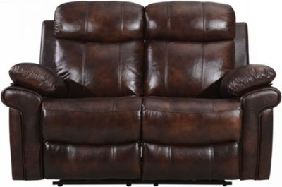 Leather Italia Joplin Brown Leather Power Reclining Loveseat