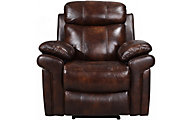 Leather Italia Joplin Brown Leather Power Recliner