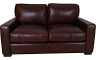 Leather Italia Randall 100% Leather Loveseat