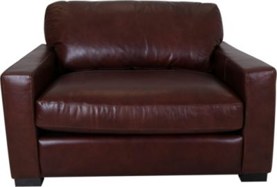 Leather Italia Randall 100% Leather Chair and 1/2