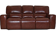 Leather Italia Broadway Leather Power Headrest Reclining Sofa