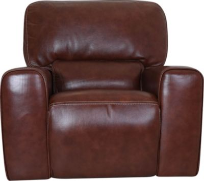 Leather Italia Broadway Leather Power Glider Recliner
