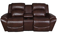 La-Z-Boy Barrett Leather Reclining Loveseat with Console