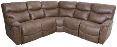 La Z Boy James 3 Piece Reclining Sectional Homemakers Furniture
