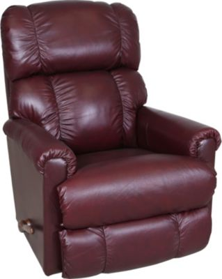 La Z Boy Pinnacle Leather Burgundy Rocker Recliner
