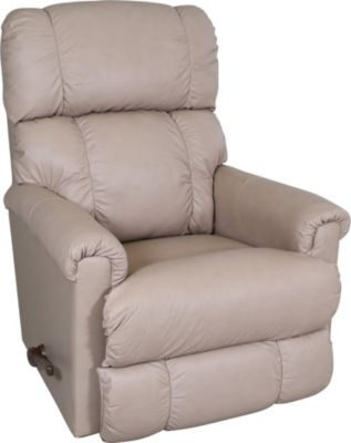 Strange La Z Boy Pinnacle Leather Cream Rocker Recliner Short Links Chair Design For Home Short Linksinfo