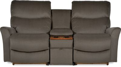 La Z Boy Rowan Rocking Reclining Console Loveseat