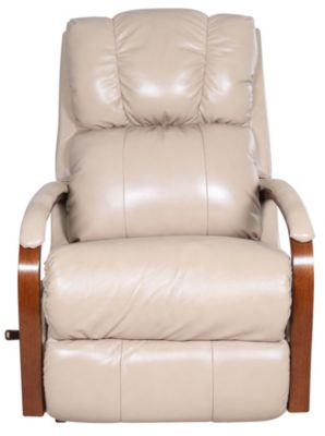 La-Z-Boy Harbor Town Cream 100% Leather Rocker Recliner