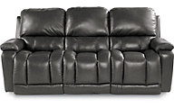 La-Z-Boy Greyson Gray 100% Leather Reclining Sofa