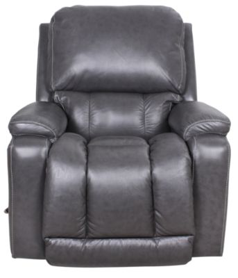La-Z-Boy Greyson Gray 100% Leather Rocker Recliner
