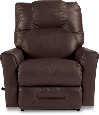 La-Z-Boy Easton Brown Leather Rocker Recliner