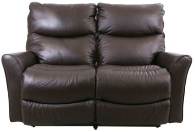 La-Z-Boy Rowan Brown Leather Reclining Loveseat