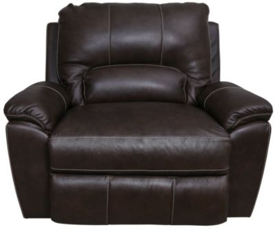 La-Z-Boy Charger Leather Power Reclining Chair & 1/2