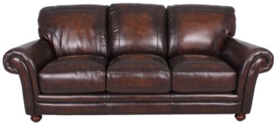 Lovely La Z Boy William 100% Leather Sofa