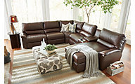 La-Z-Boy Aspen 6-Piece Leather Reclining Sectional