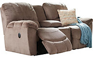 La-Z-Boy Hayes Brown Reclining Loveseat with Console