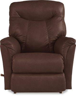 La-Z-Boy Fortune Brown Leather Rocker Recliner