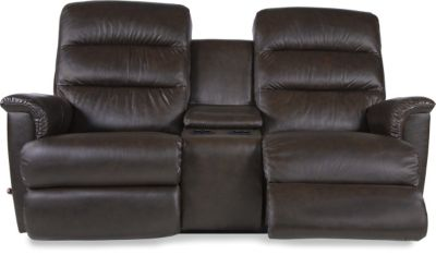 La-Z-Boy Tripoli Leather Reclining Loveseat with Console