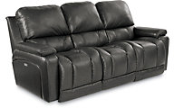 La-Z-Boy Greyson 100% Leather Power Reclining Sofa w/USB