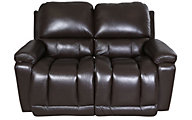 La-Z-Boy Greyson 100% Leather Power Recline Loveseat w/USB