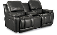 La-Z-Boy Greyson 100% Leather Power Recline Loveseat/PB