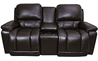 La-Z-Boy Greyson 100% Leather Power Recline Loveseat w/Powe