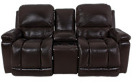 La-Z-Boy Greyson 100% Leather Power Recline Console Lovesea