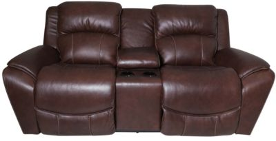 La-Z-Boy Barrett Leather Power Reclining Console Loveseat