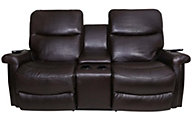 La-Z-Boy Baylor Leather Loveseat w/Power Recline & Headrest