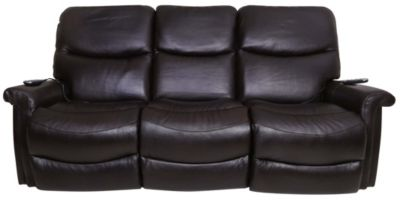 La-Z-Boy Baylor Leather Power Recline Sofa w/Power Headrest