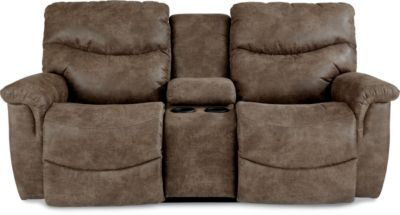La-Z-Boy James Power Recline/Headrest Console Loveseat