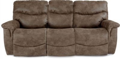 La Z Boy James Light Brown Reclining Sofa Homemakers Furniture