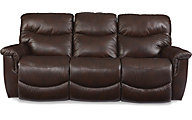 La-Z-Boy James Leather Sofa w/Power Recline & Headrests