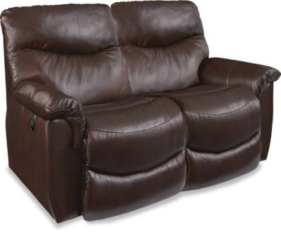 La-Z-Boy James Leather Reclining Loveseat
