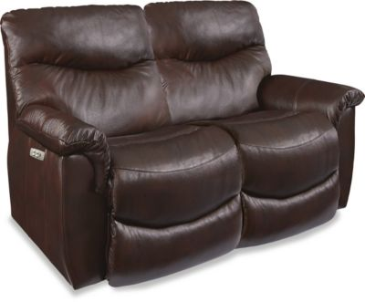 La-Z-Boy James Power Recline Leather Loveseat