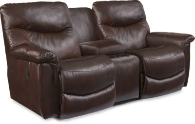 La-Z-Boy James Leather Reclining Console Loveseat