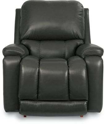 La-Z-Boy Greyson Swivel Leather Rocker Recliner
